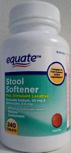 equate stool softener tablets with stimulant laxative 240