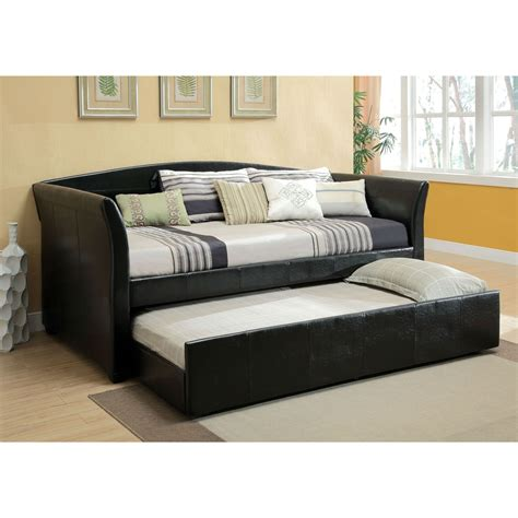 Daybed With Trundle Bed Furniture Black Wooden Daybed With Trundle White Bedding Bed Plus Grey Rug On Laminate