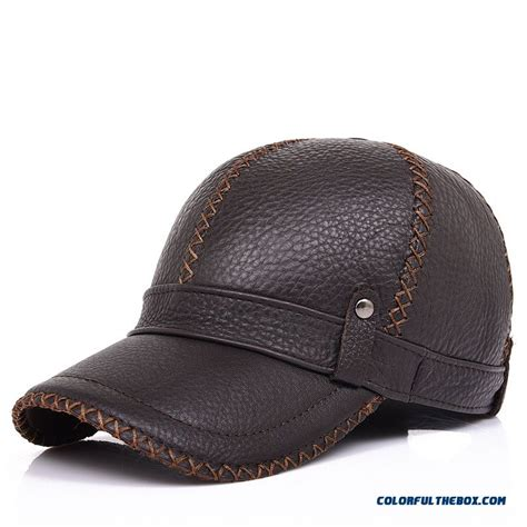 hats and caps great selection and prices at aztex hats cheap good quality comforable men s leather baseball cap