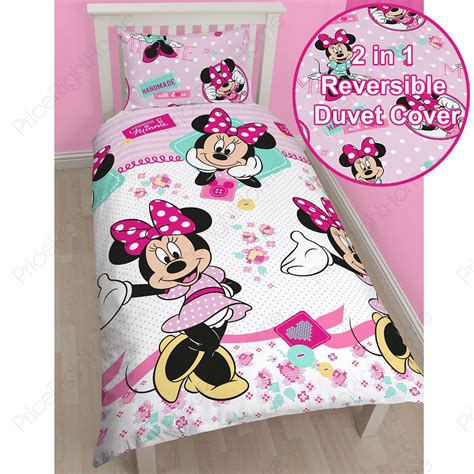 minnie mouse bedroom sets disney mickey or minnie mouse single duvet cover sets