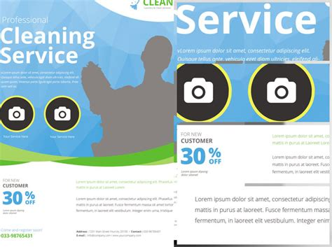 service flyer template cleaning service flyer template flyerheroes