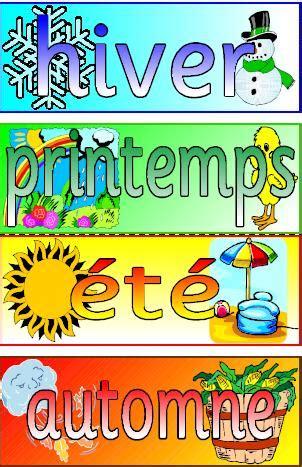 printable seasons poster mfl french resource the seasons printable posters