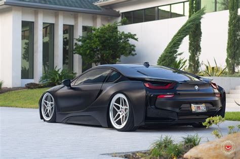 matte black bmw matte black bmw i8 on vossen lc 104 wheels