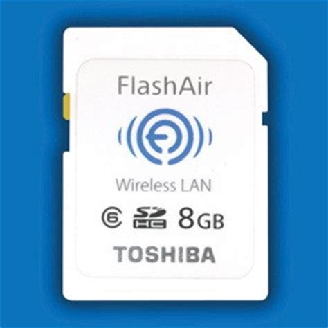 toshiba flashair wifi sd card will make your eye fi s water