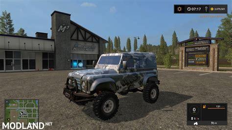 land rover mod land rover defender 90 v 1 0 mod farming simulator 17