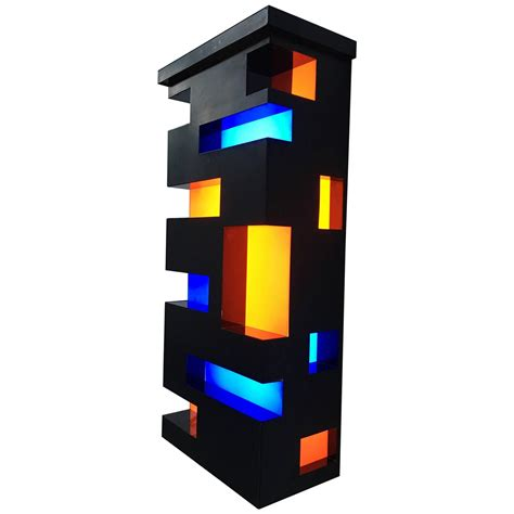 Home Interiors Wall Art by Enameled Steel And Plexiglas De Stijl Style Light