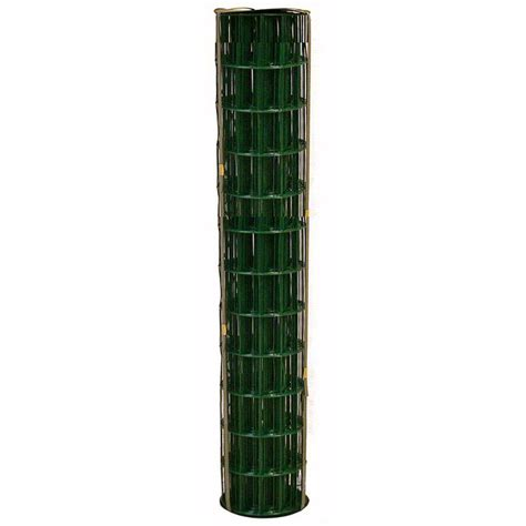 allfenz 3 25 ft x 50 ft green pvc coated welded wire