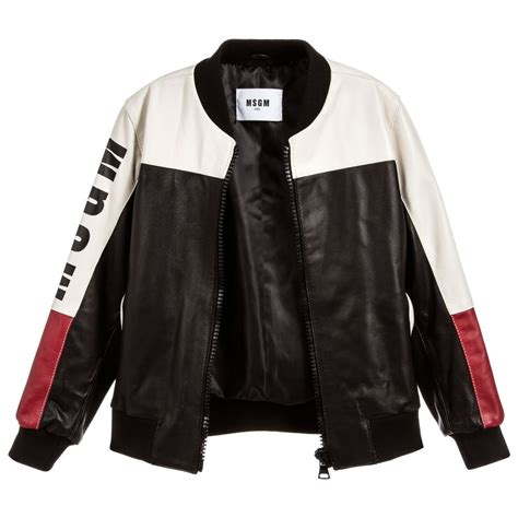 7 Jackets For Your Boy by Msgm Boys Leather Bomber Jacket Childrensalon