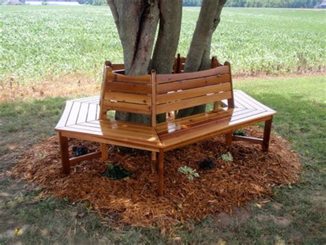 wooden tree bench bow from tree stand square wrap around tree bench