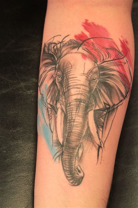 watercolor tattoo yorkshire elephant tattoos designs ideas and meaning tattoos for you