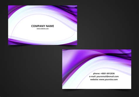 free visiting card free vector wavy visiting card background free