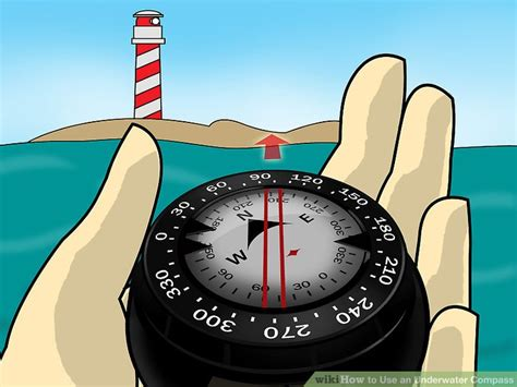 how to use a compass on a boat how to use an underwater compass 3 steps with pictures