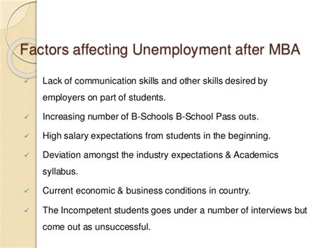 I Am An Mba And Unemployed by Unemployment Risk Associated With Mba