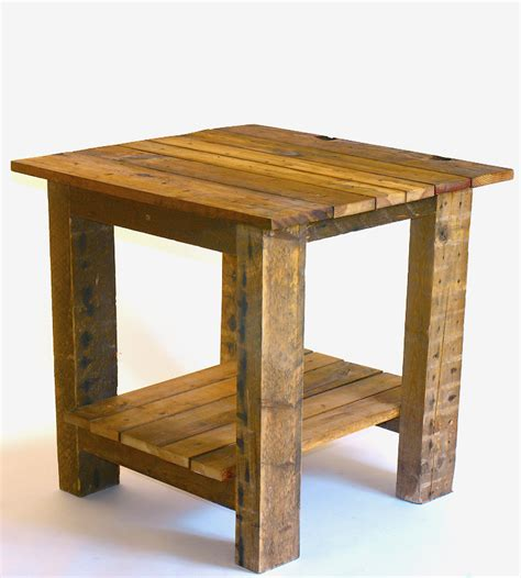 reclaimed wood end table frank reclaimed wood plank top end table home furniture