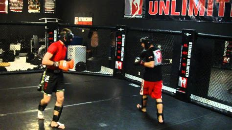pro mma fighter johnny case sparring at striking unlimited