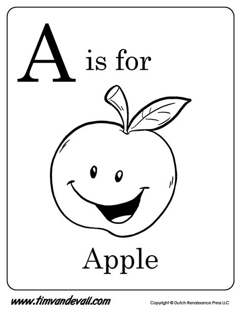 a is for apple printable tim s printables