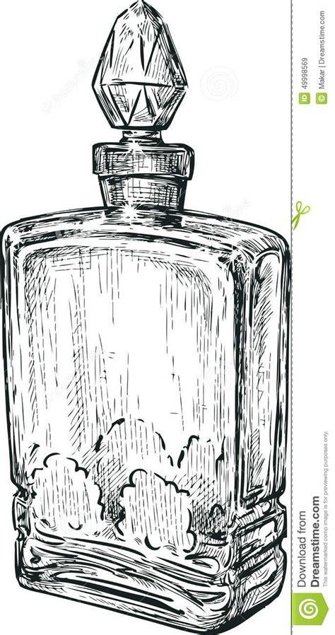 old perfume bottle stock vector image 49998569