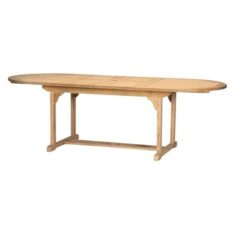 hiteak furniture oval extendable patio dining table