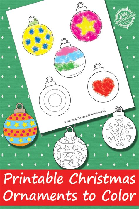 free printable christmas decoration ideas printable christmas ornaments free kids printable