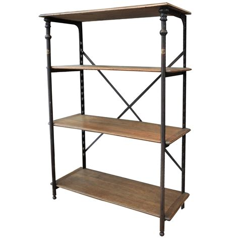 wood and iron shelves iron and wood theodor scherf textile factory shelf
