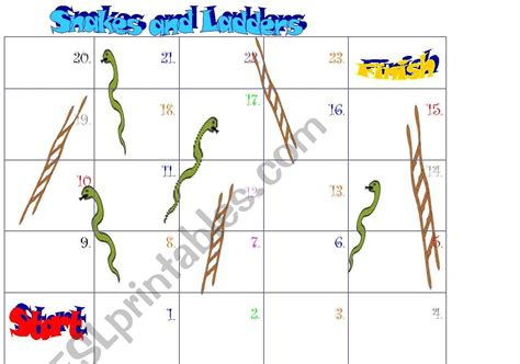 snakes and ladders printable template worksheets snakes and ladders template