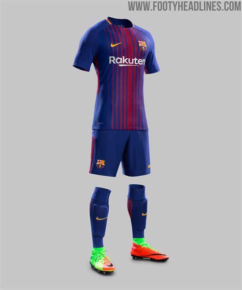 barcelona uniform barcelona 17 18 home kit released footy headlines