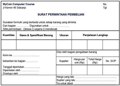 Contoh Surat Permintaan Perusahaan by Akuntansi Perusahaan Dagang Prosedur Pembelian