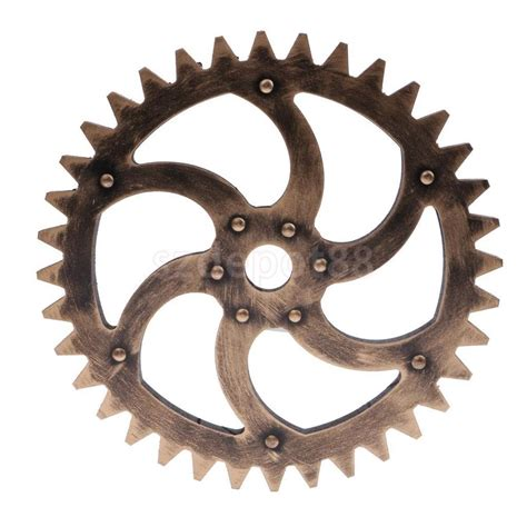 Vintage Wooden Signs Home Decor 29cm Vintage Steampunk Gear Wheel Interior Wall Art