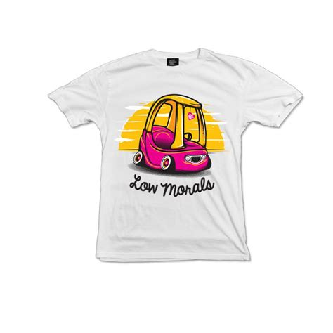 Tshirt Low And low morals t shirt white wheel