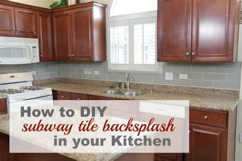 how to apply backsplash in kitchen 8 diy tile kitchen backsplashes that are worth installing