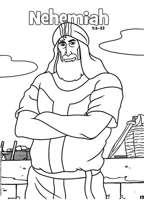 book of nehemiah bible coloring page sketch coloring page