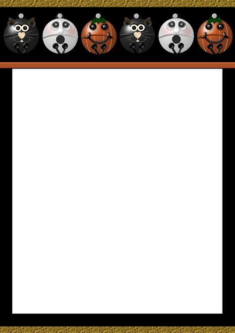 printable halloween stationery paper best photos of paper halloween templates free printable