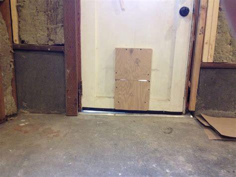 adjust   uneven exterior door threshold