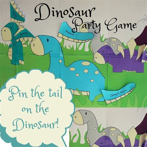 pin the tail on the dinosaur party game or in e s case we