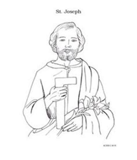 coloring pages of joseph the carpenter st joseph coloring page for kids to colour coloriage