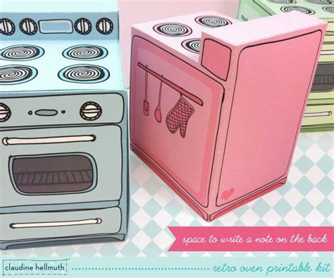 How To Make A Paper Oven - retro oven cupcake box cookie treat and