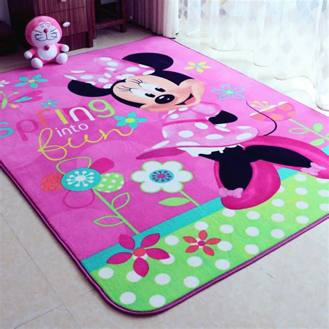 Child Girl Lovely Minnie Mouse Pink Game Carpet Minnie Mouse Rugs For