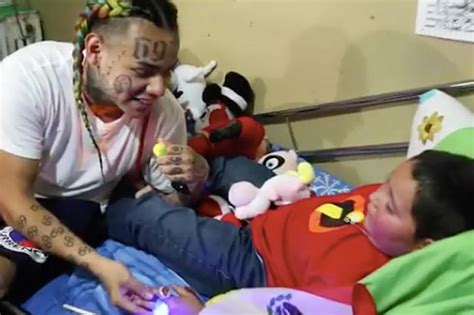 6ix9ine child tekashi 6ix9ine fulfills sick boy s wish to meet him pays