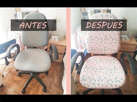como tapizar una silla de oficina rapido  facil  tela