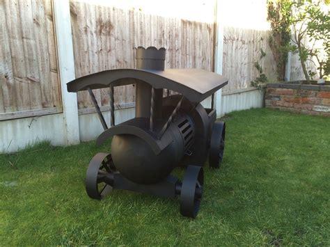traction engine log burner wood burner gas bottle chiminea