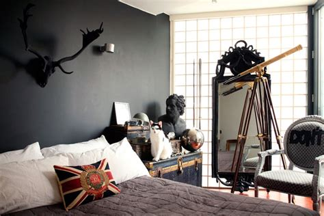 sherlock inspired bedroom animal heads and antlers frog hill designs blog