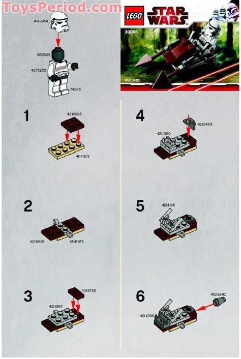 Imperial Speeder Bike Polybag lego 30005 imperial speeder bike set parts inventory and lego reference guide