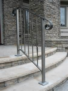 Unusual Banisters Curved Wrought Iron Stair Railings And Exterior Wrought