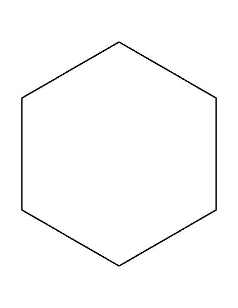 8 inch hexagon pattern use the printable outline for