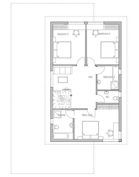 contemporary homes floor plans contemporary house plans modern house plan to narrow lot