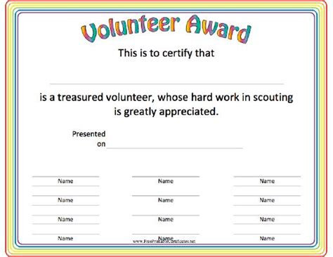 volunteering certificate template this volunteer award certificate is a great thank you for