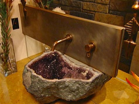bathroom with stone stone age bathroom sinks diy