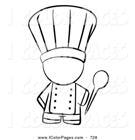 coloring page chef hat chefs hat free colouring pages