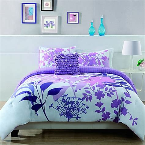 lavender shadow botanical comforter set bed bath