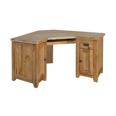 Tuscany Solid Oak Furniture Office Corner Computer Pc Desk Solid Office Furniture